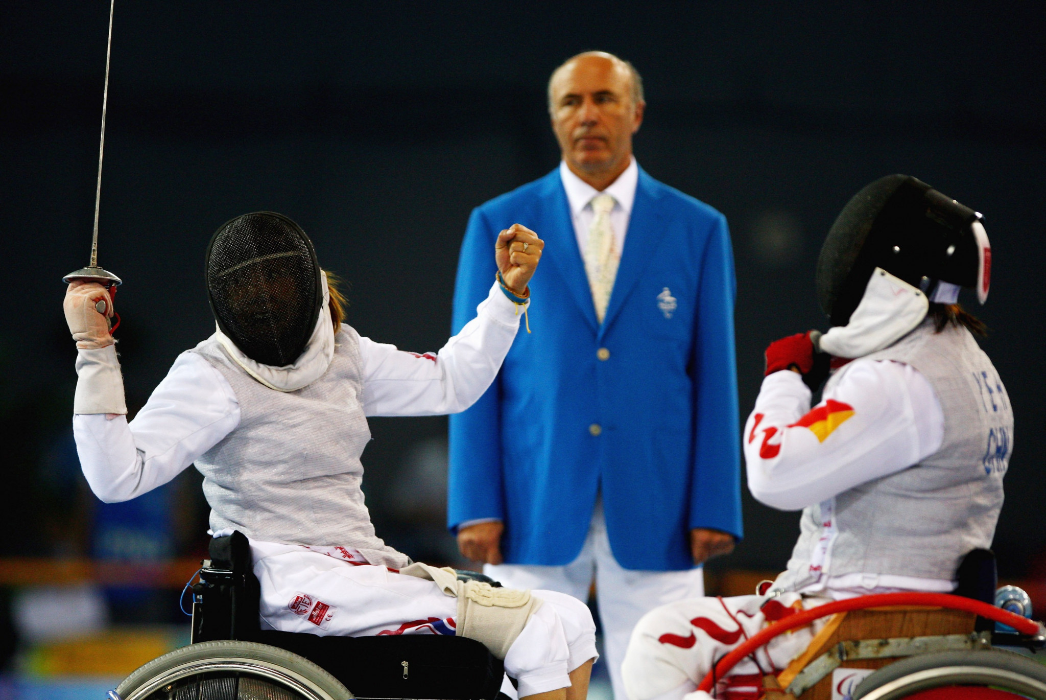 Rio 2016 silver medallist Saysunee Jana, left, was beaten by Russia's Viktoria Boykova in the women's épée