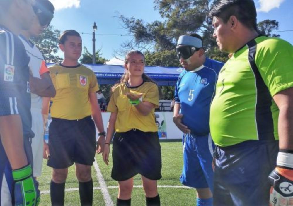 Hilary Ramírez was referee for one of the day's matches ©IBSA