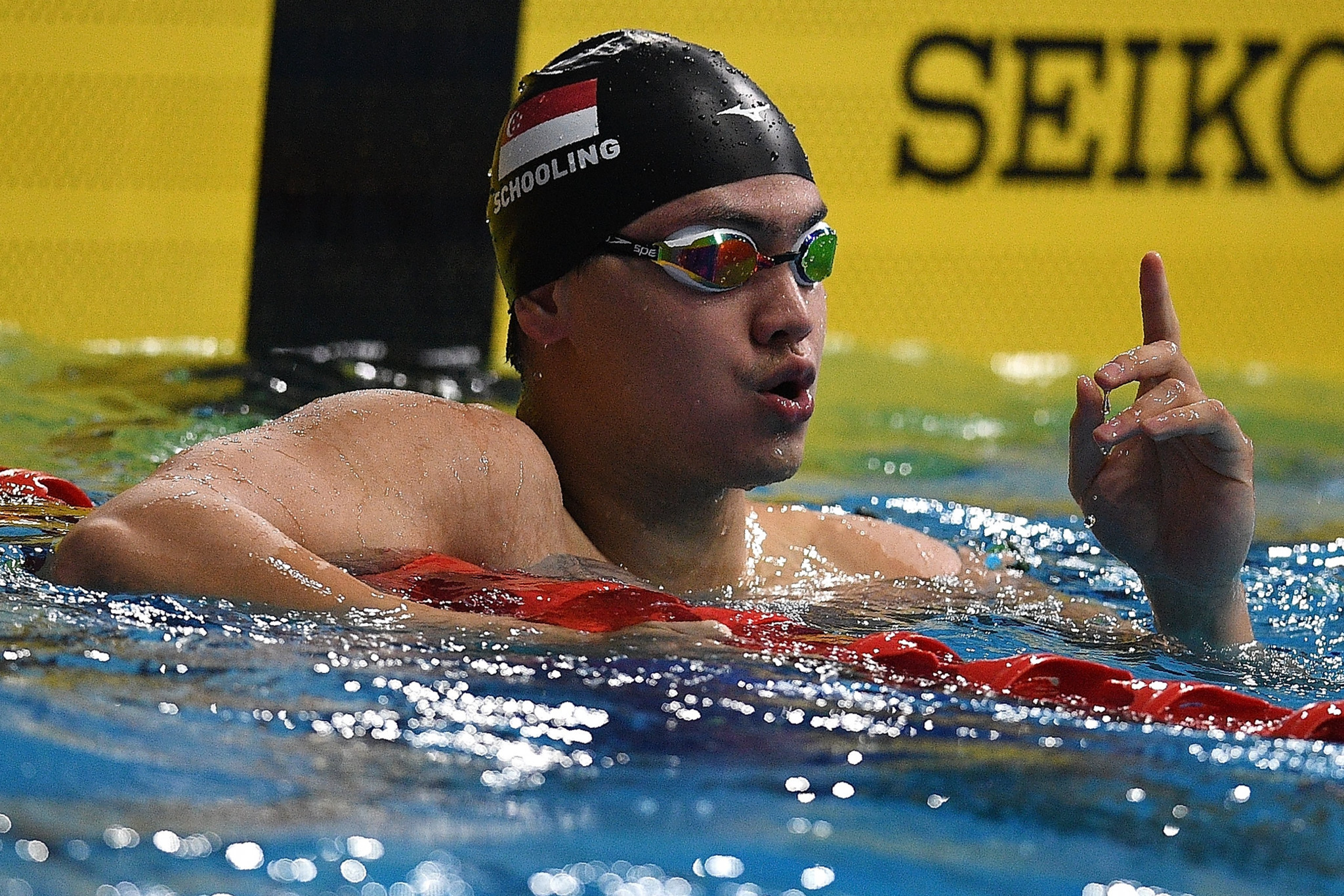 Singapore gold medallist Joseph Schooling, whose success at the Rio 2016 Olympics was a high point for Singapore sports ©Getty Images