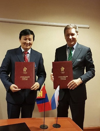 Mongolia signs MoU with Russian Olympic Committee