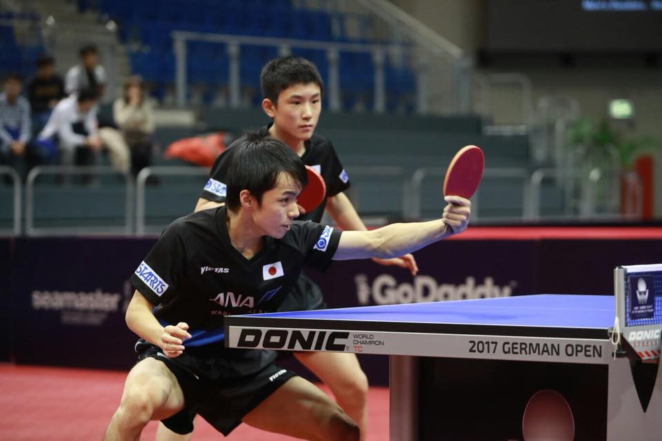 China's world champions were beaten by Japanese opponents in the men's doubles ©ITTF