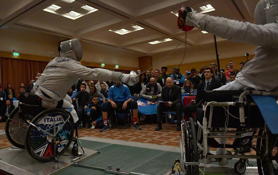 It was another good day for Italy at the IWAS Wheelchair Fencing World Championships in Rome ©Facebook