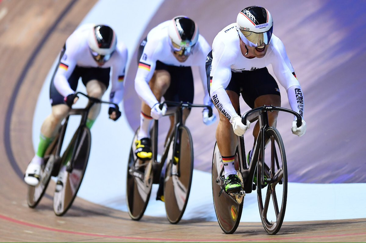 Germany claimed double gold in the team sprint events ©Twitter/UCI_Track
