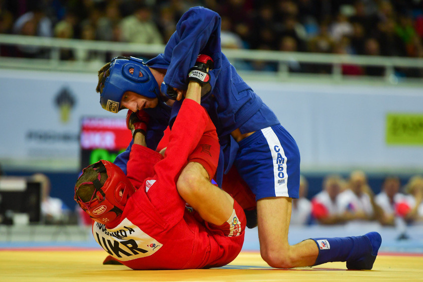 Russia were the dominant force, however, with Mukhtar Gamzaev among their six gold medallists following victory over Ukraine's Andrii Kucherenko in the combat men's 57kg final ©FIAS