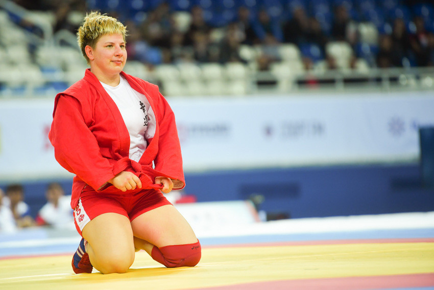 Tatiana Zenchenko also secured top honours for the home nation by claiming the women's 72kg crown ©FIAS