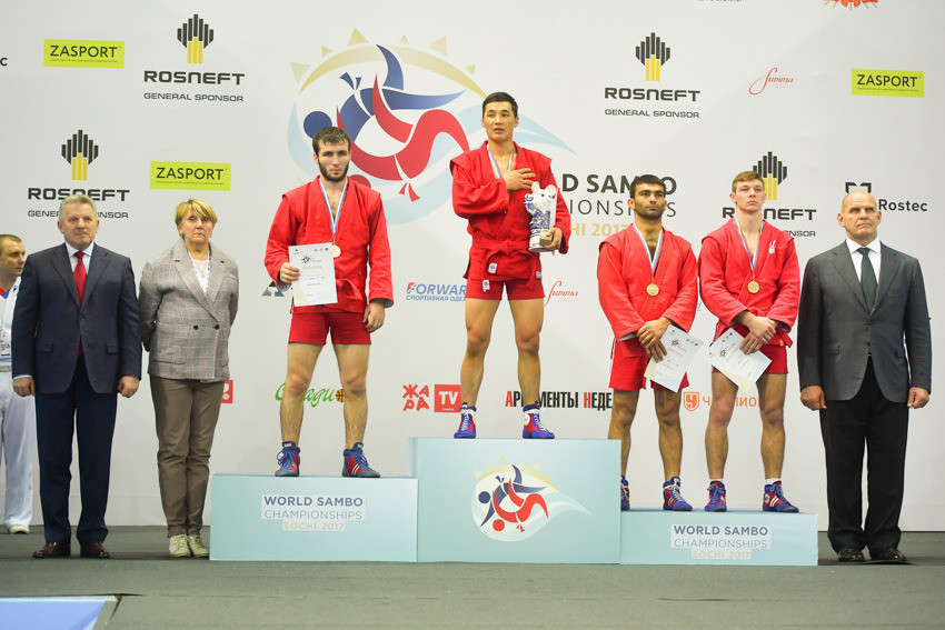Kyrgyzstan's Raiymku dents hosts Russia's dominance on opening day of 2017 World Sambo Championships