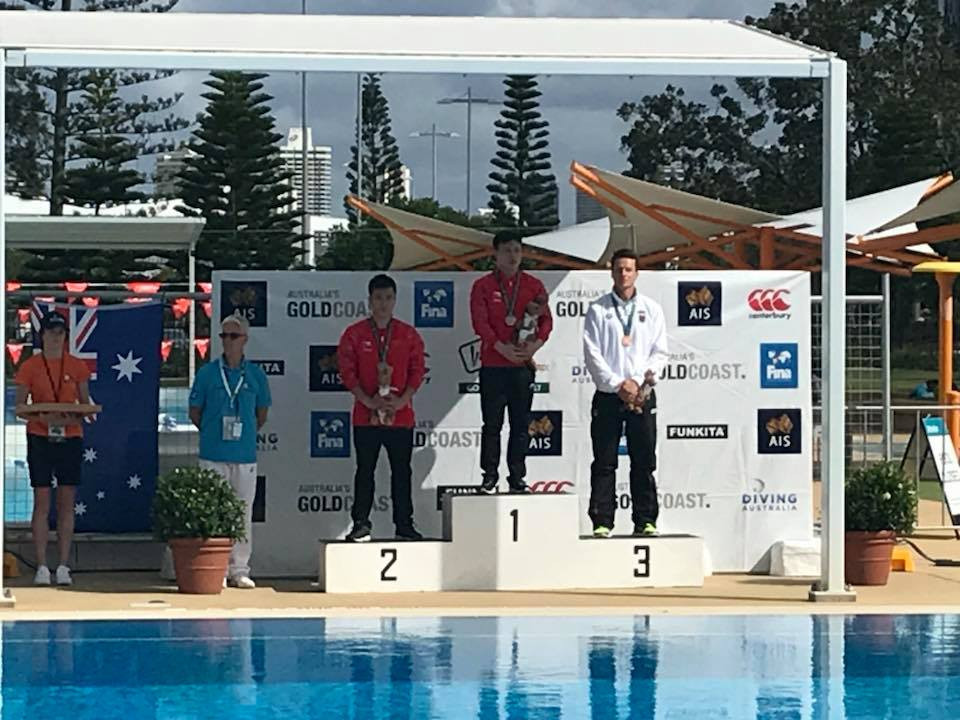 China's Siyi Xie won two gold medals on the first day of finals ©Facebook/FINA Diving Grand Prix Gold Coast