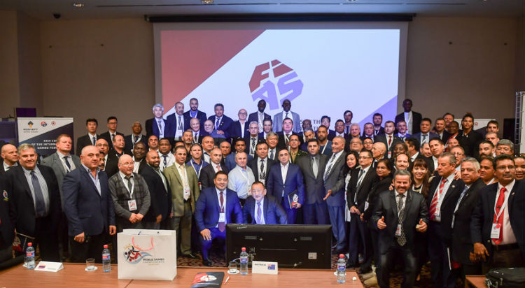 Carlos Dos Santo spoke during the FIAS Congress, which was held on the eve of the 2017 World Sambo Championships ©FIAS