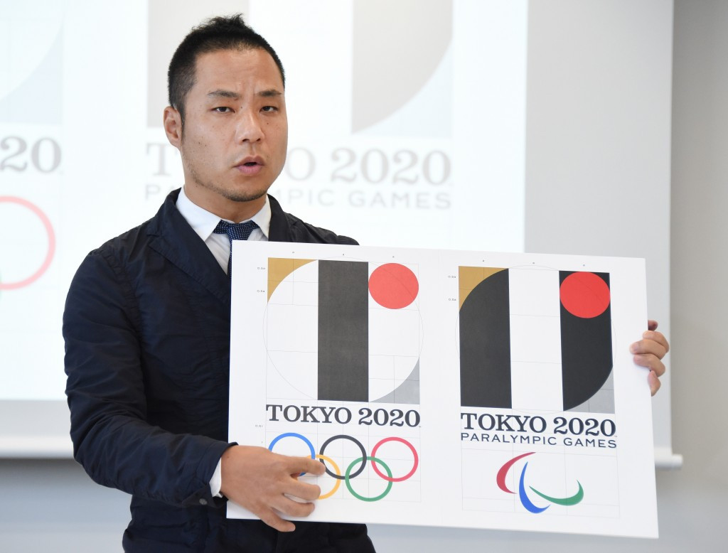 Kenjiro Sano faces plagiarism allegations over his design of the Tokyo 2020 logo ©Getty Images