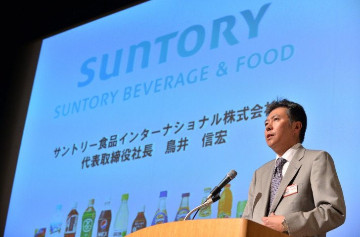 Kenjiro Sano admitted his team copied logo designs for a Suntory promotion campaign