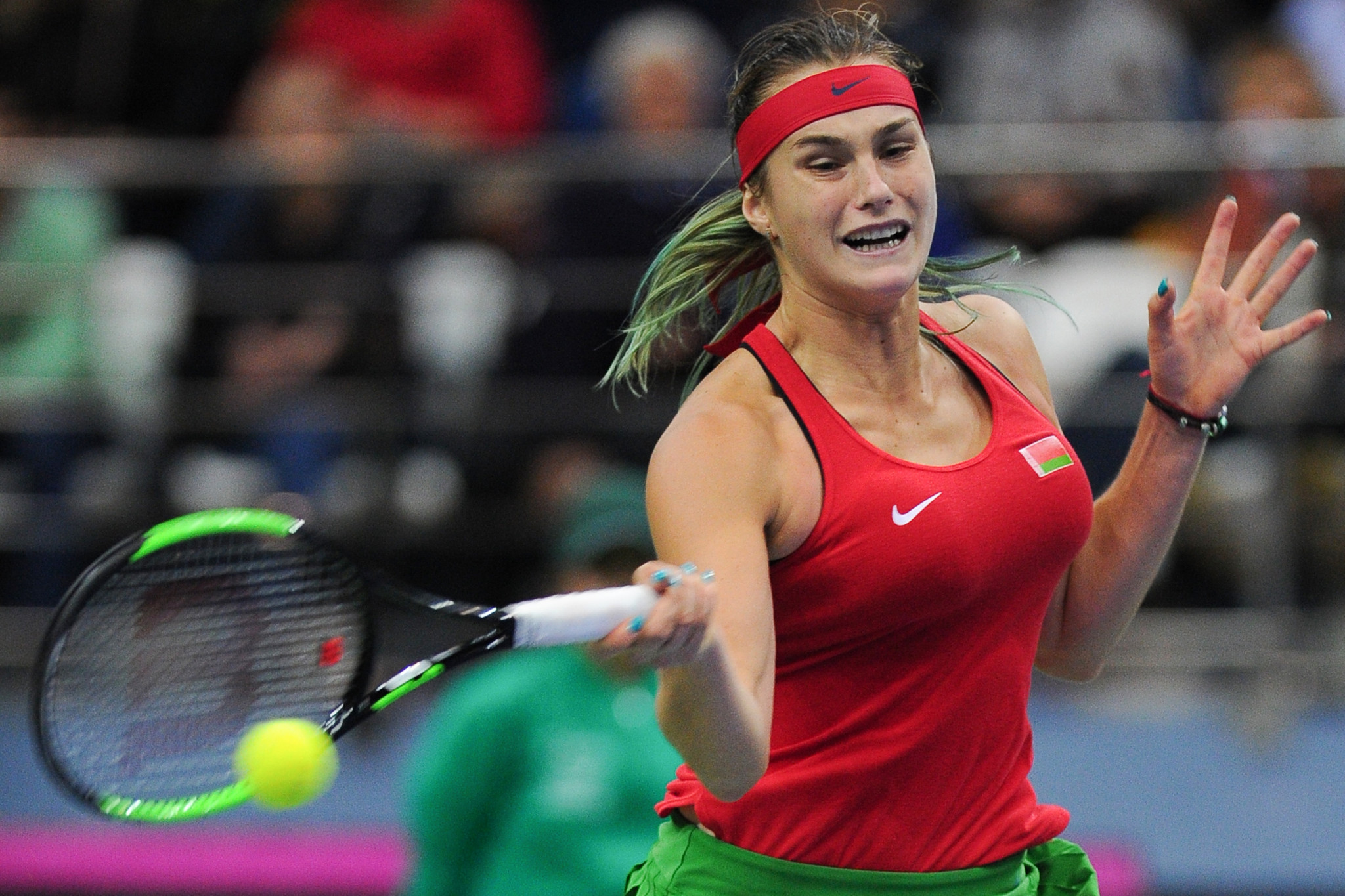 Belarus and United States tied after opening day of Fed Cup final