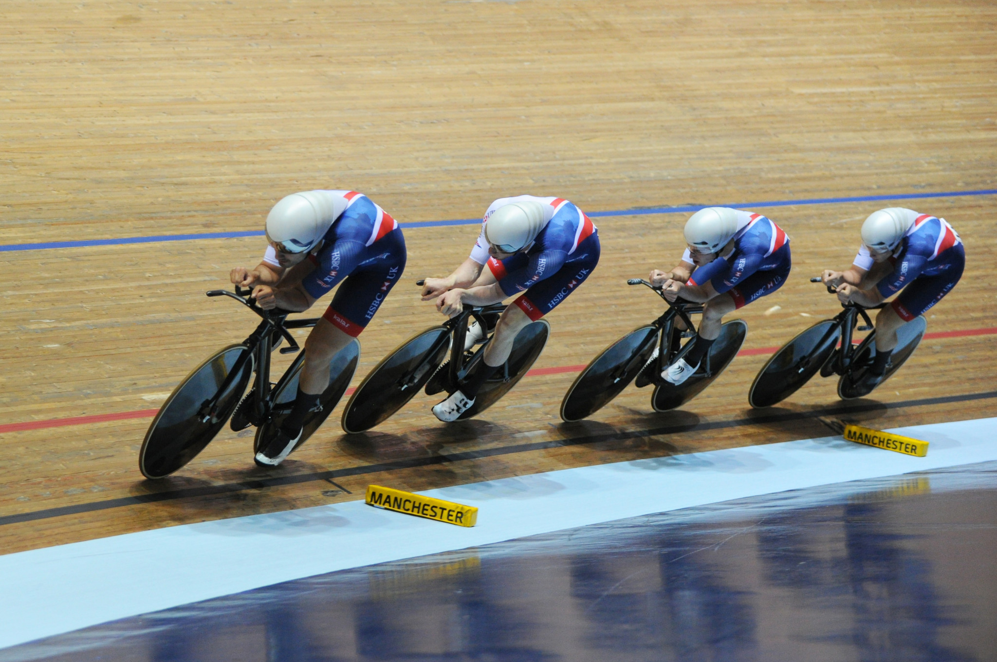 Hosts celebrate double gold on second day at UCI Track Cycling World Cup in Manchester