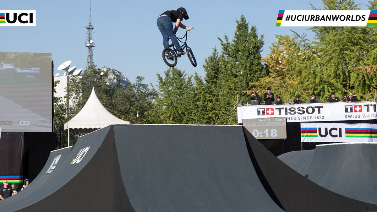 Hannah Roberts triumphed in the women's BMX freestyle park competition ©UCI