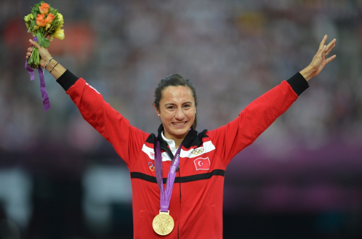 Turkey's Asli Cakir Alptekin has been stripped of her gold medal and has been handed an eight-year doping ban ©Getty Images