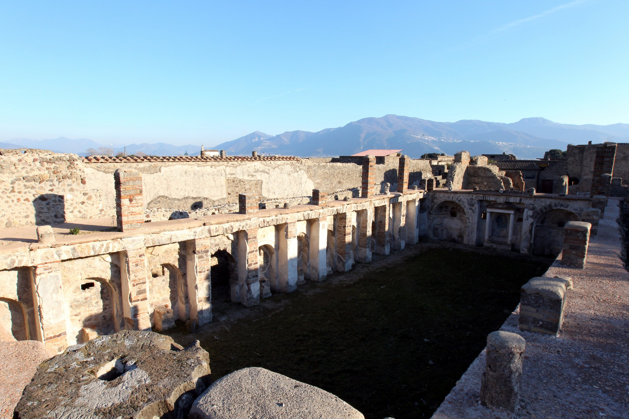 Living near cultural sites such as Pompeii has be highlighted as an attraction of the roles ©Getty Images