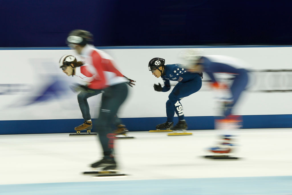 United States upset South Korea to take 5,000m relay gold in world record time at ISU Short Track World Cup