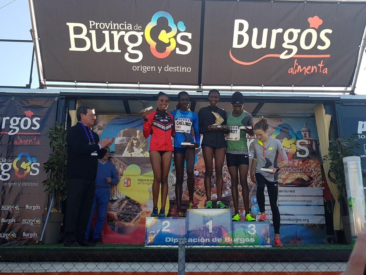 Senbere Teferi won the corresponding women's race ©CrossAtapuerca/Twitter