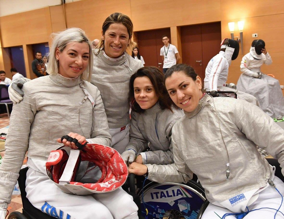 Italy settled for silver in the women's team sabre event ©Twitter