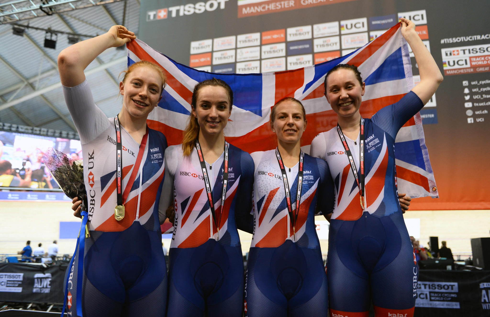 Britain earn women's team pursuit gold as UCI Track Cycling World Cup in Manchester concludes