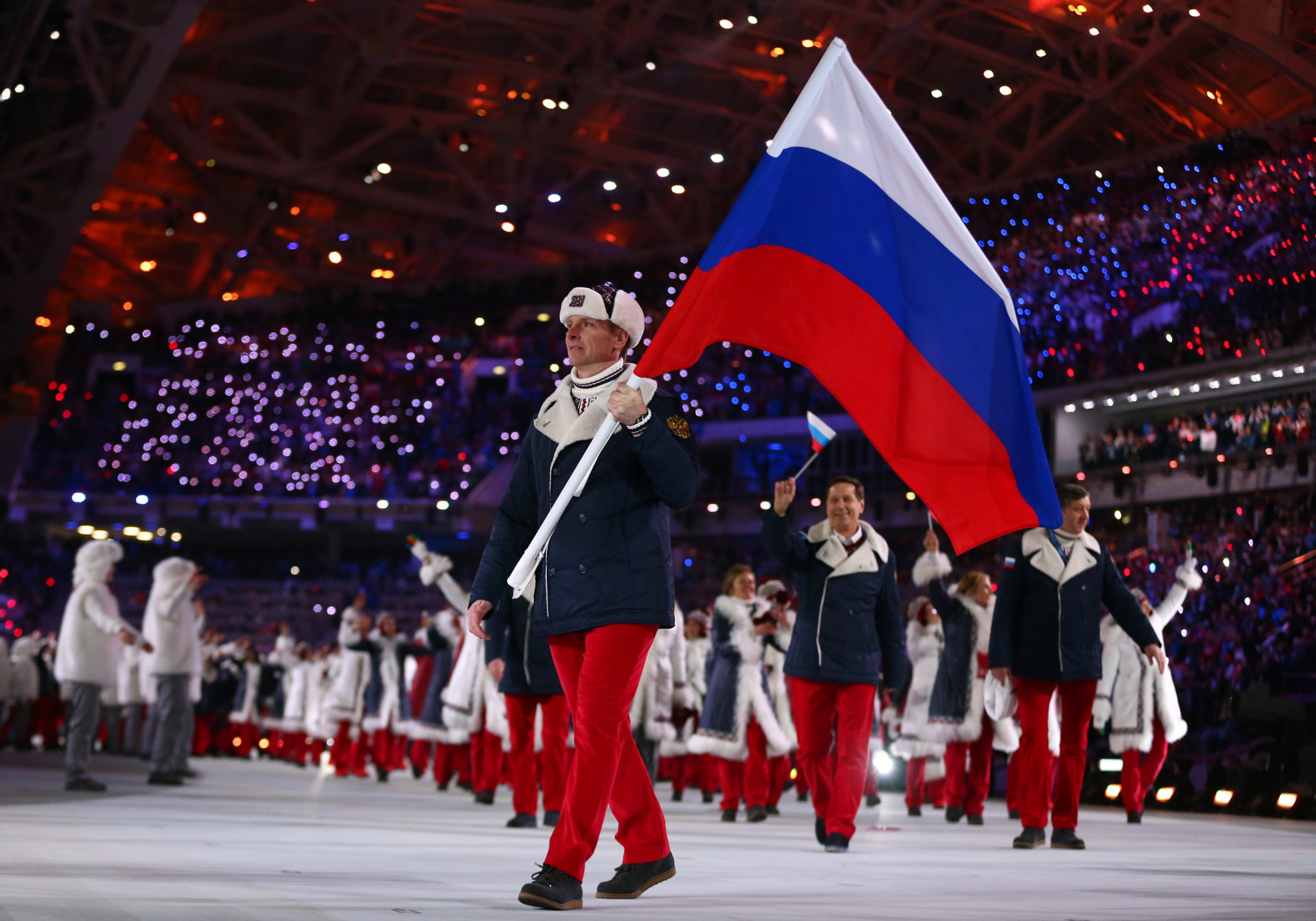 A verdict is still expected against Russian athletes, including double Olympic gold medallist Alexander Zubkov, who carried his country's flag at the Opening Ceremony of Sochi 2014 ©Getty Images