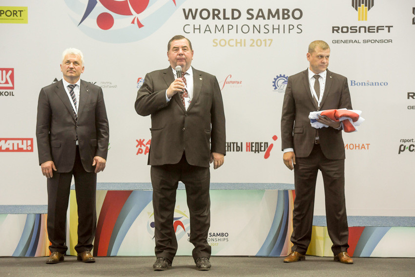 International Sambo Federation President Vasily Shestakov officially declared the 2017 World Championships closed ©FIAS