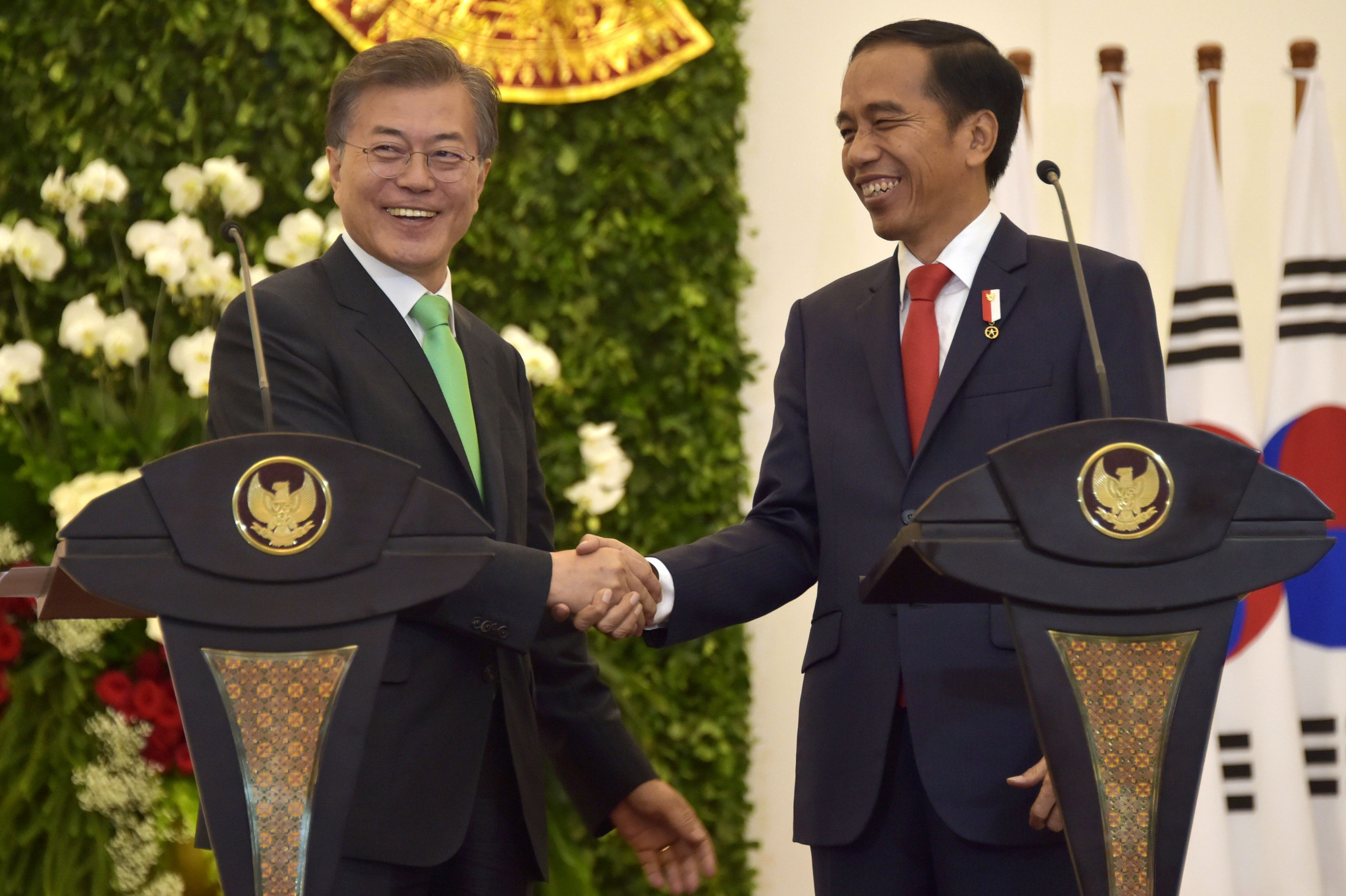 South Korean and Indonesian Presidents vow to support Pyeongchang 2018 and Asian Games in Jakarta
