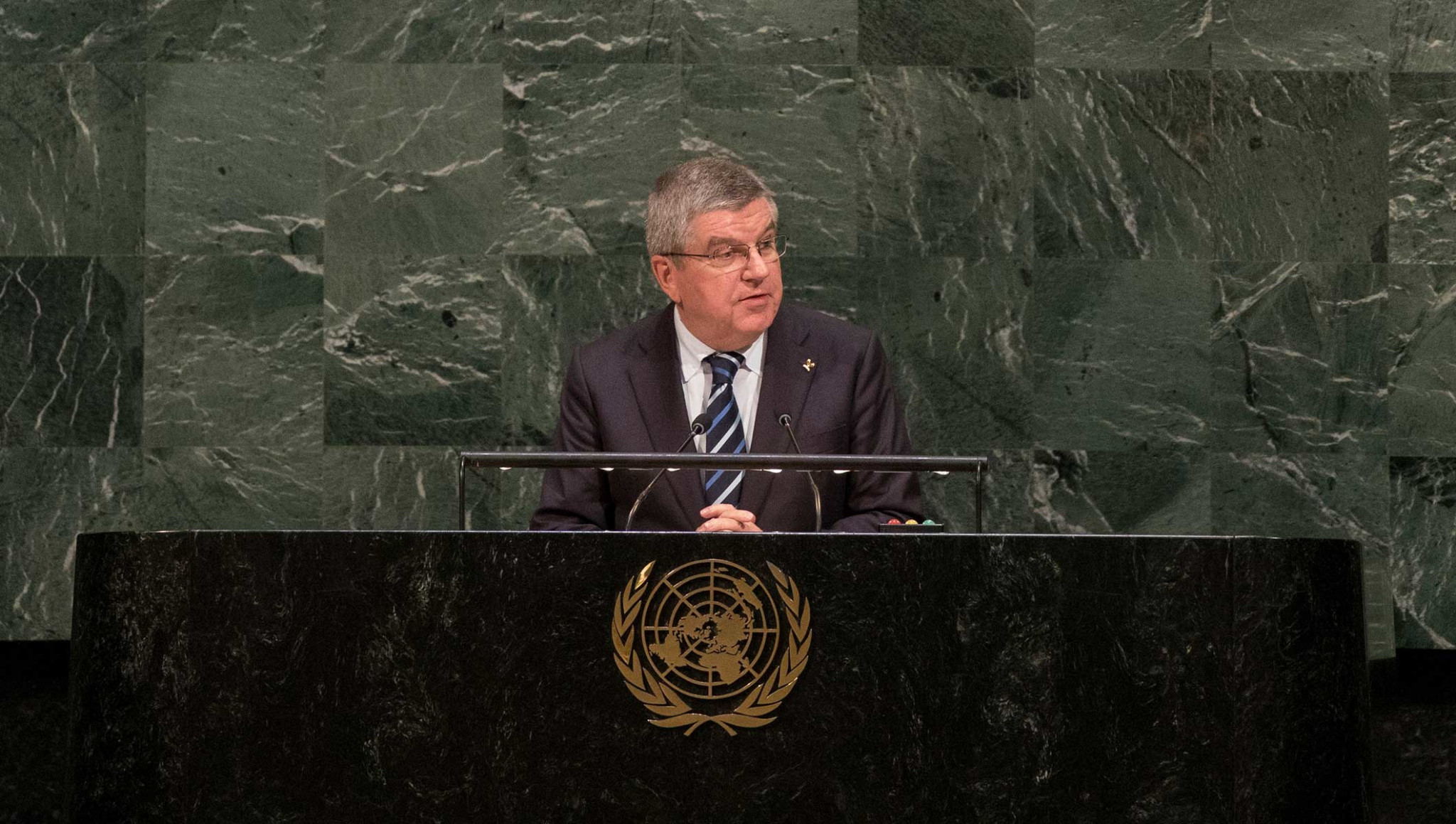International Olympic Committee President Thomas Bach spoke at the Assembly ©IOC
