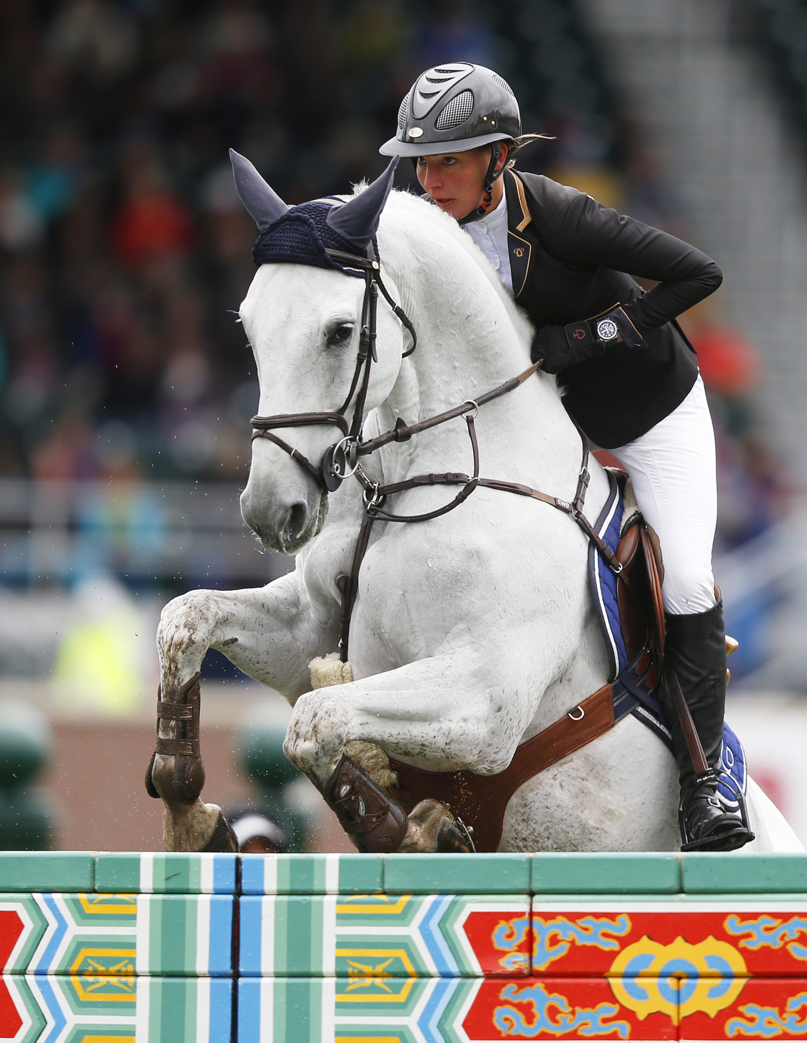 Nadja Peter Steiner in action last year on another horse, Capuera II ©Getty Images
