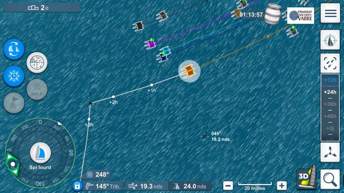 A screenshot taken from a virtual regatta ©Twitter