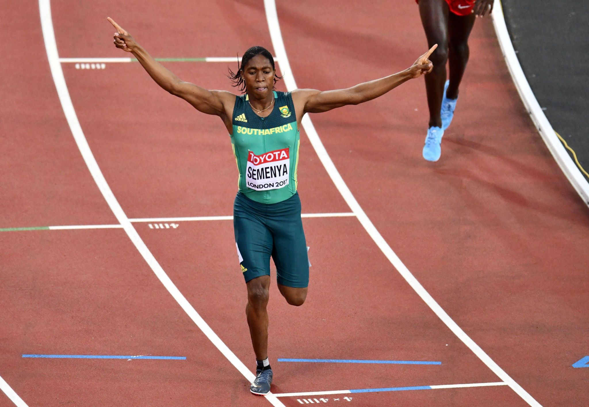 Caster Semenya won 800m gold and 1,500m bronze at London 2017 ©Getty Images