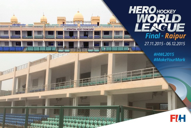 Raipur to host 2015 men's Hockey World League Final