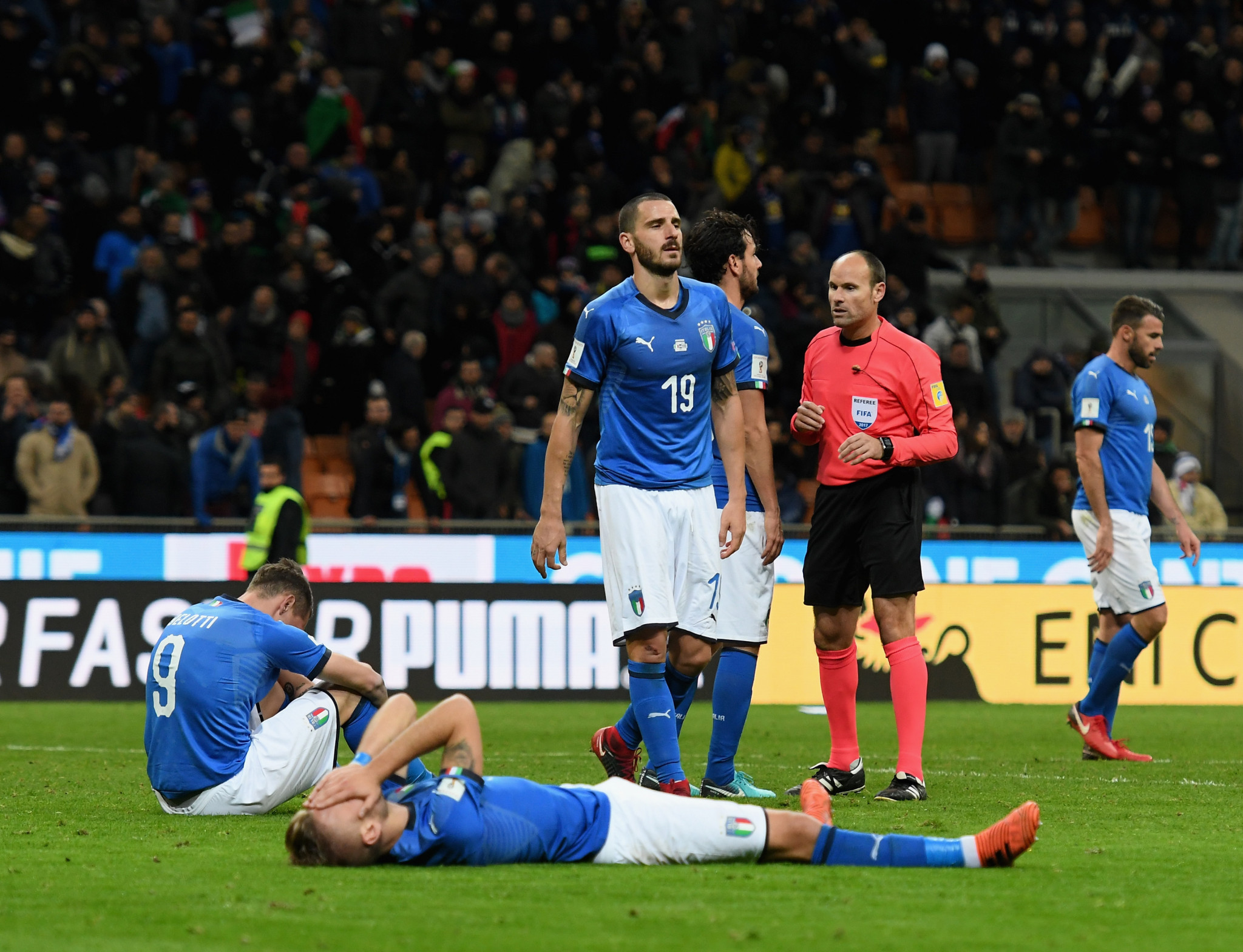 Italy failed to qualify for the World Cup after a 0-0 draw with Sweden in the second leg of their play-off ©Getty Images