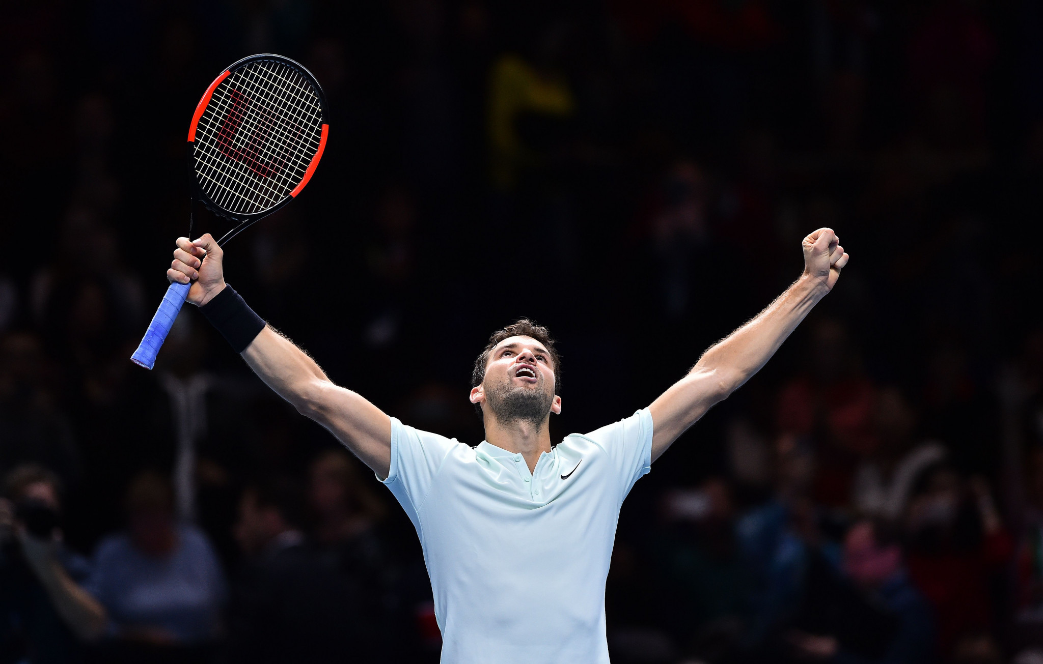 Dimitrov storms into ATP World Tour Finals last four after thrashing Goffin