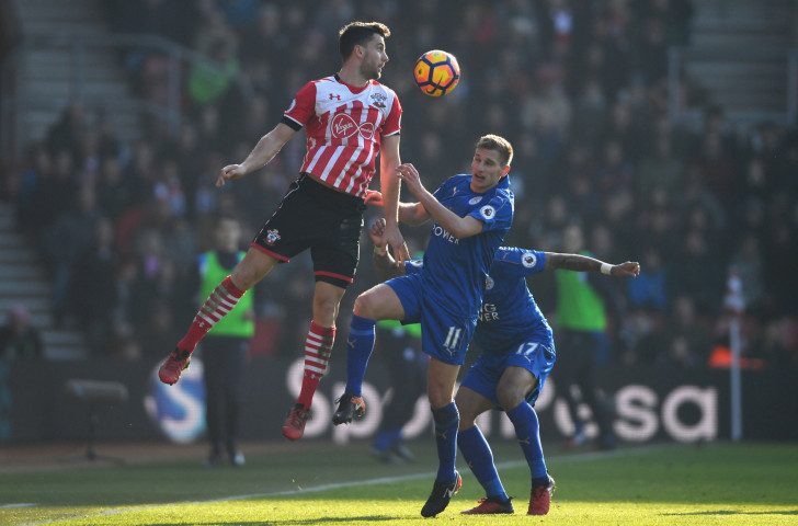 Jay Rodriguez (left), pictured playing against Leicester City last season, tops the individual list for injury absence over the previous three seasons with a total of 549 days ©Getty Images