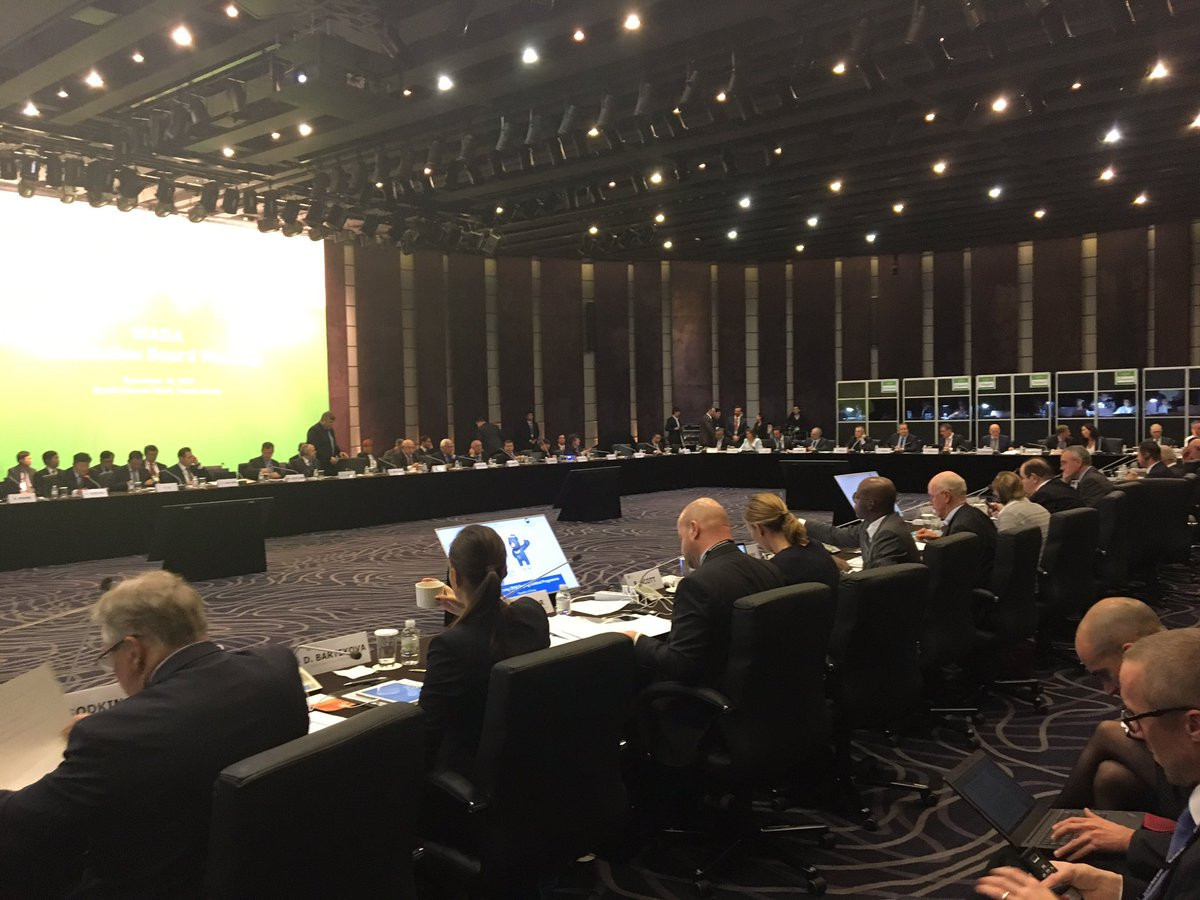 The World Anti-Doping Agency Foundation Board agreed that the organisation's budget will increase by eight per cent next year to $32 million ©Twitter