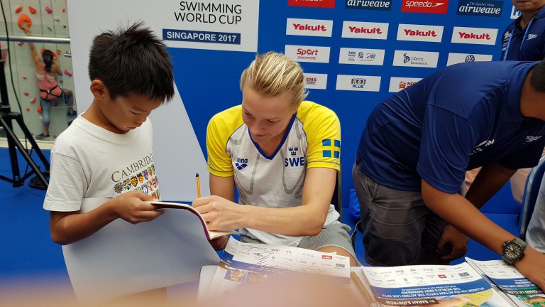 Sarah Sjöström is the clear favourite to win the women's overall crown ©FINA