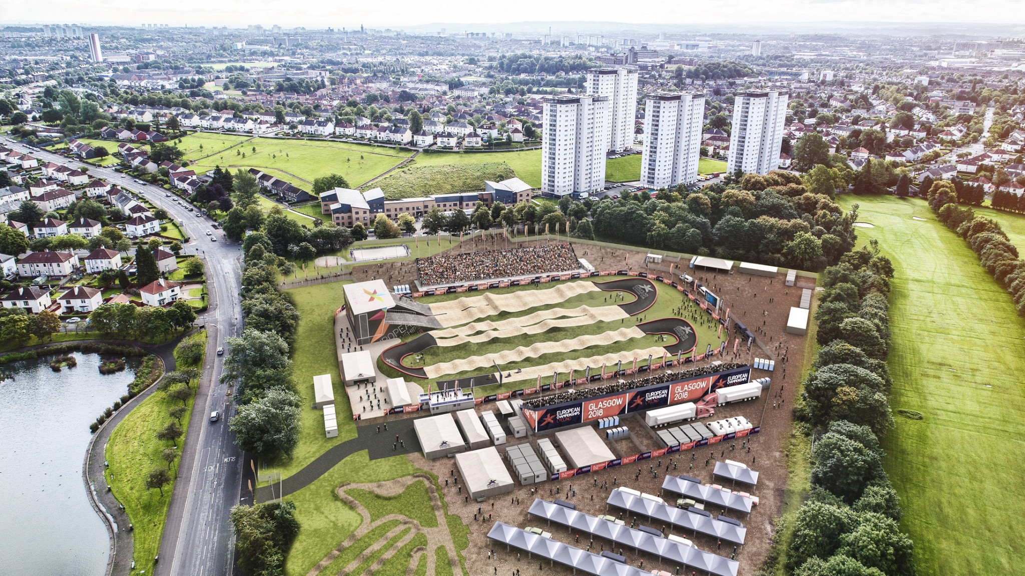 Construction work is underway on a new £3.7 million Olympic-standard BMX track being built in Glasgow prior to the 2018 European Championships ©Glasgow City Council