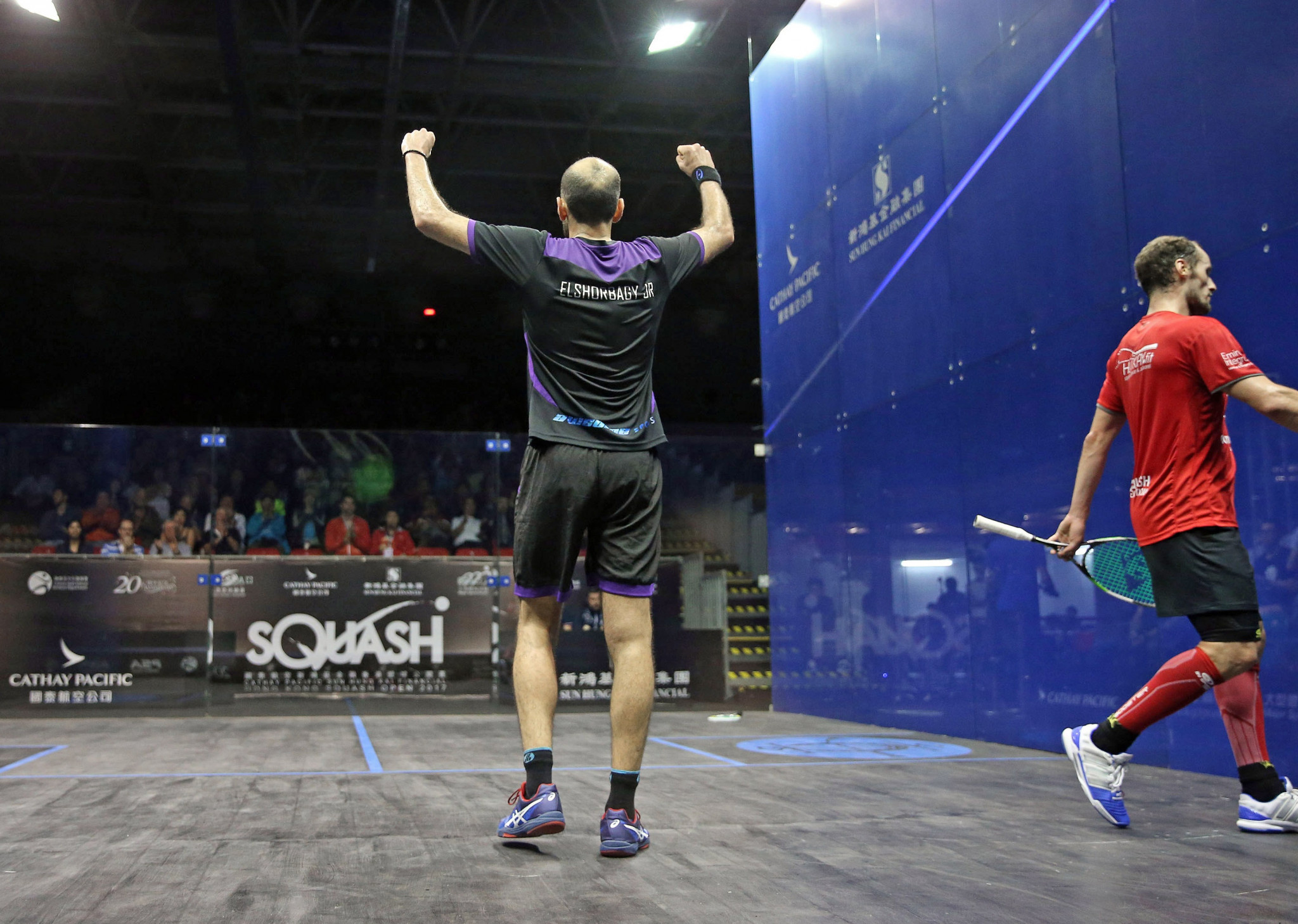 Marwan Elshorbagy is among the four Egyptians to have qualified for the men's semi-finals at the PSA Hong Kong Open ©PSA