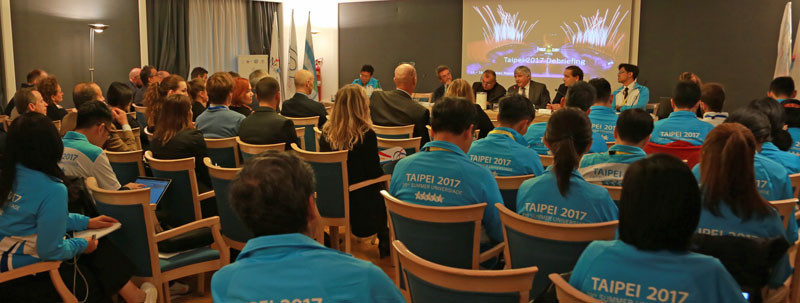 The Taipei 2017 Organising Committee was represented by a team of 25 sport management experts and three interpreters ©FISU