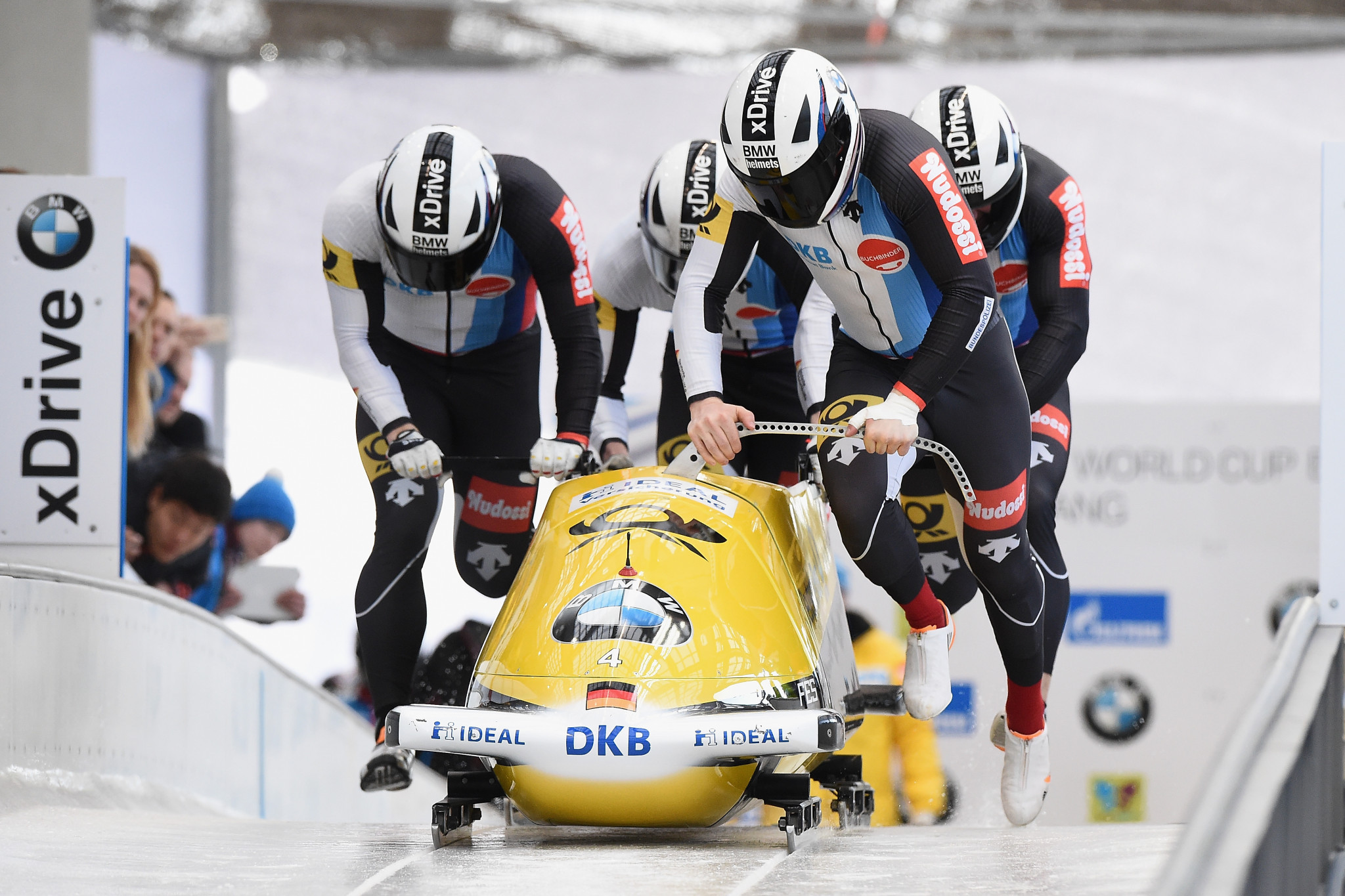 Walther wins opening four-man event of IBSF World Cup season