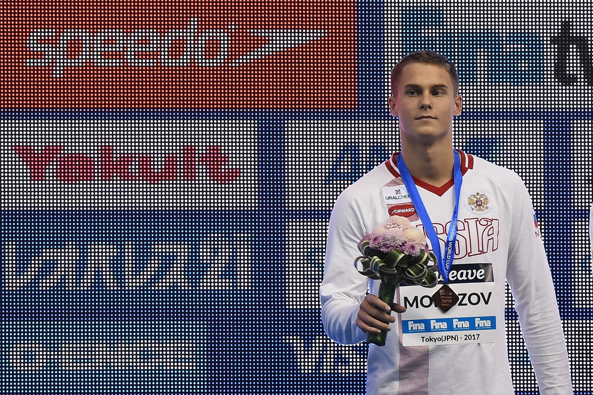 Two victories from Russia's Vladimir Morozov at the FINA World Cup in Singapore kept the men's title race open - just ©Getty Images