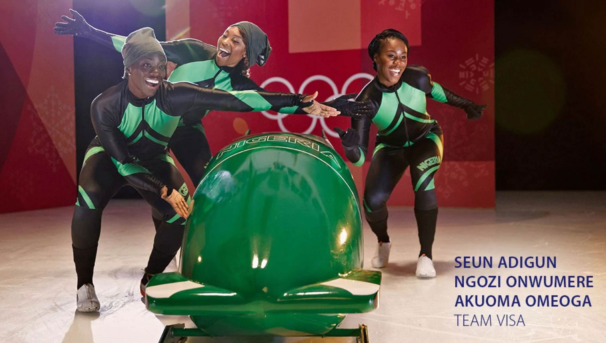 The Nigerian women's bobsleigh team have joined Team Visa in a bid to qualify for Pyeongchang 2018 ©IOC