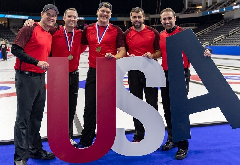 John Shuster's team claimed a 7-5 victory over Heath McCormick's side today to book their place at Pyeongchang 2018 as the US Olympic Curling Team Trials came to a close ©Rich Harmer/USA Curling