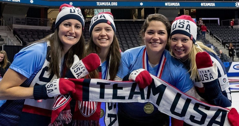 Nina Roth's rink has qualified to compete in their first Olympic Games ©Rich Harmer/USA Curling