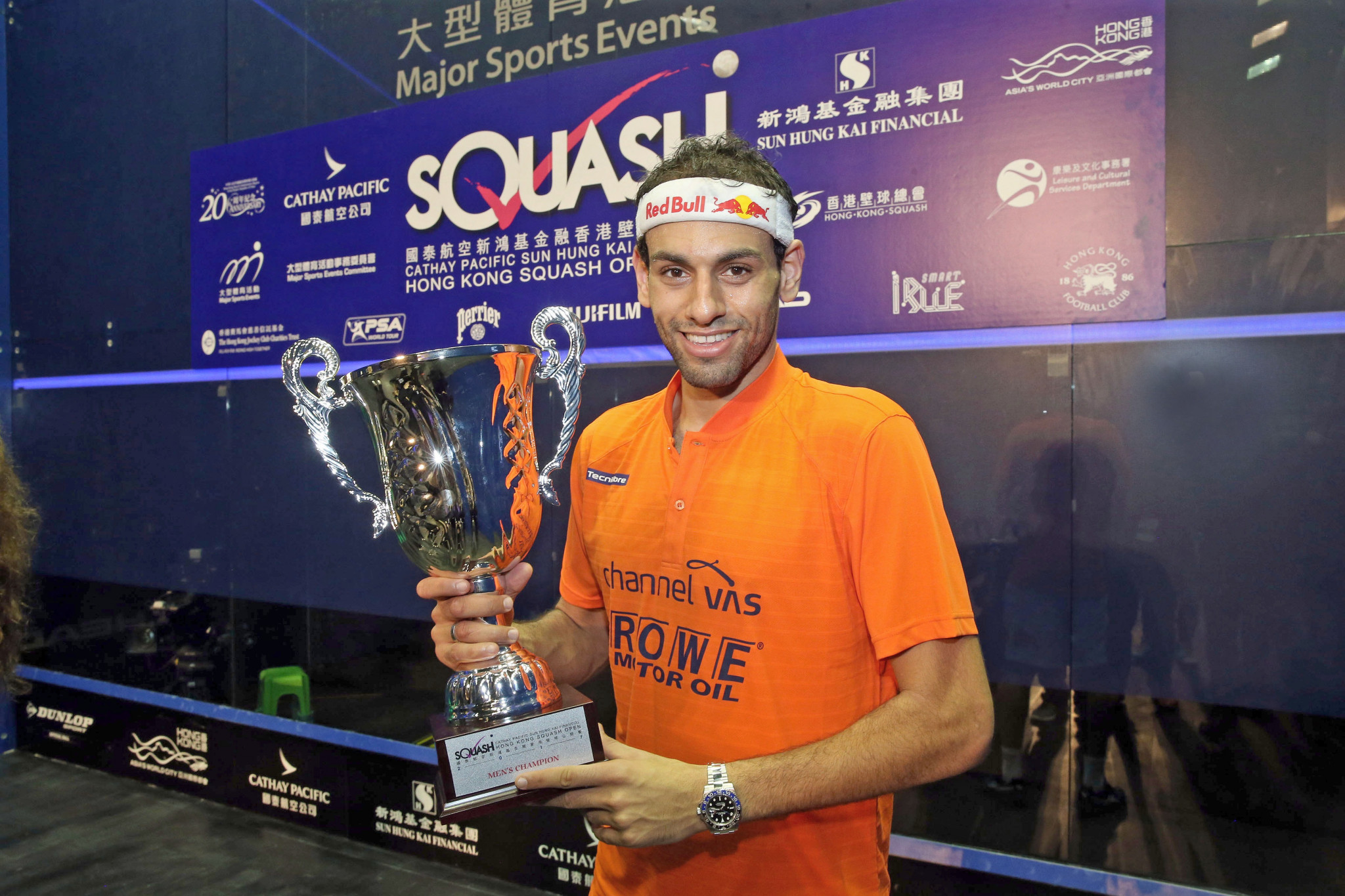 Egyptians Elshorbagy and El Sherbini triumph at PSA Hong Kong Open