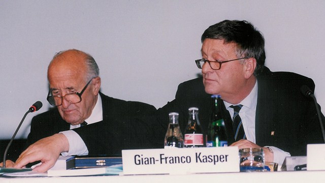 Gian Franco-Kasper had planned to stand down as FIS President after 22 years at the Congress in May, but this has now been postponed ©Getty Images