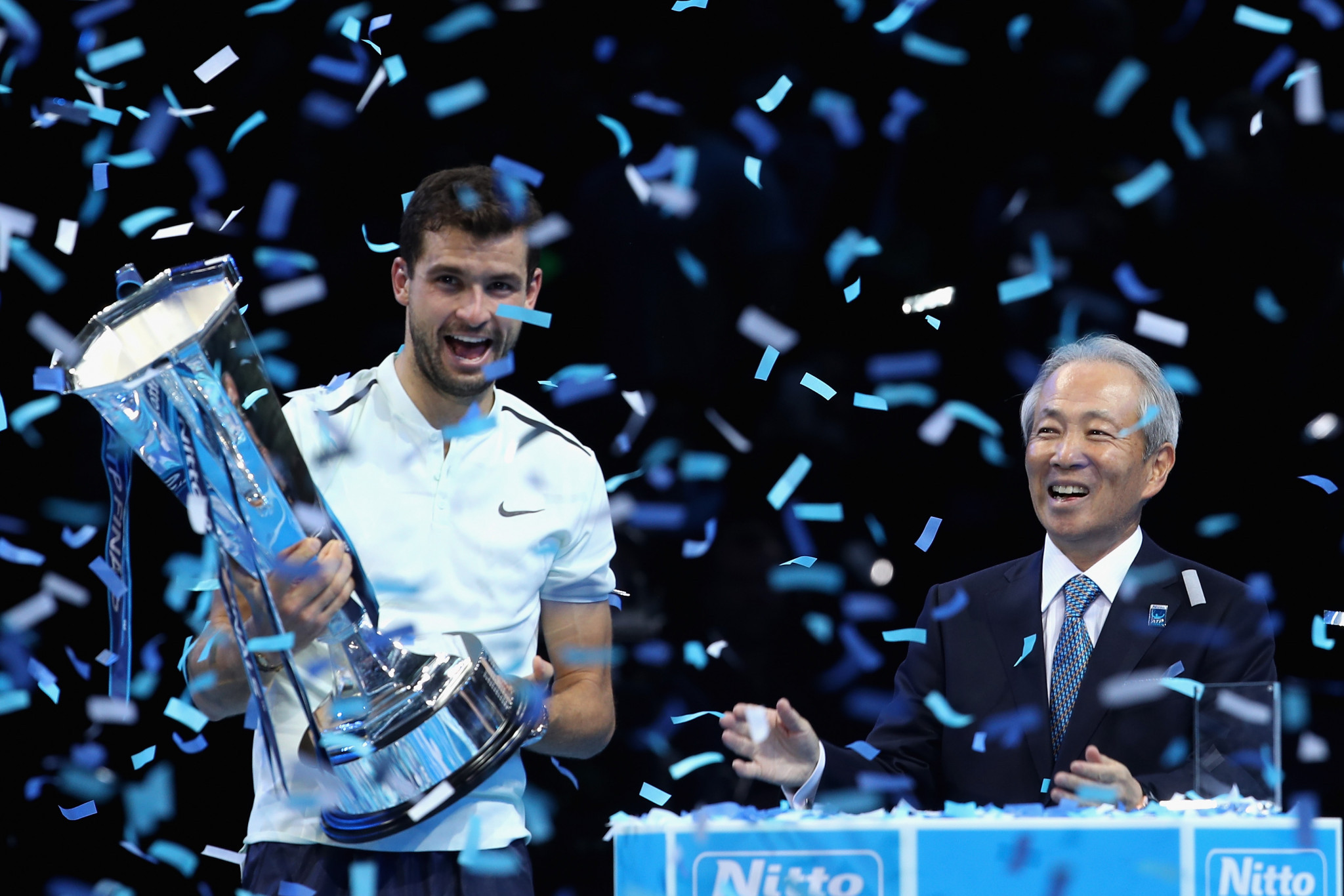 Debutant Dimitrov the history-maker at ATP's flagship London event