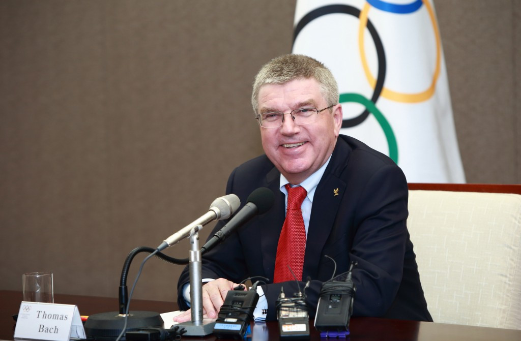 Thomas Bach says the Olympic Movement must remain neutral despite playing a role in political affairs ©Getty Images