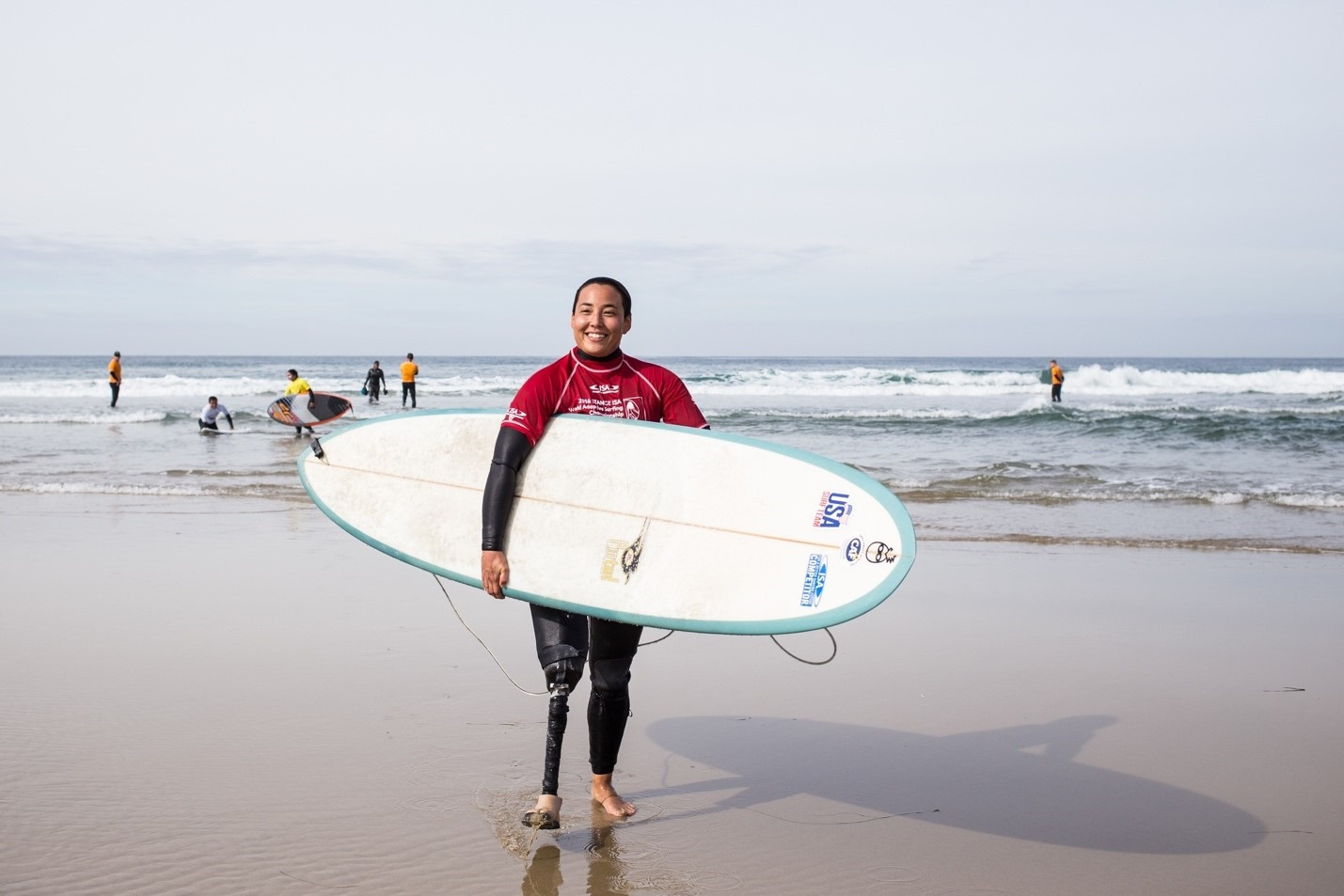 Women's divisions will feature for the first time at the 2017 World Adaptive Surfing Championships ©ISA