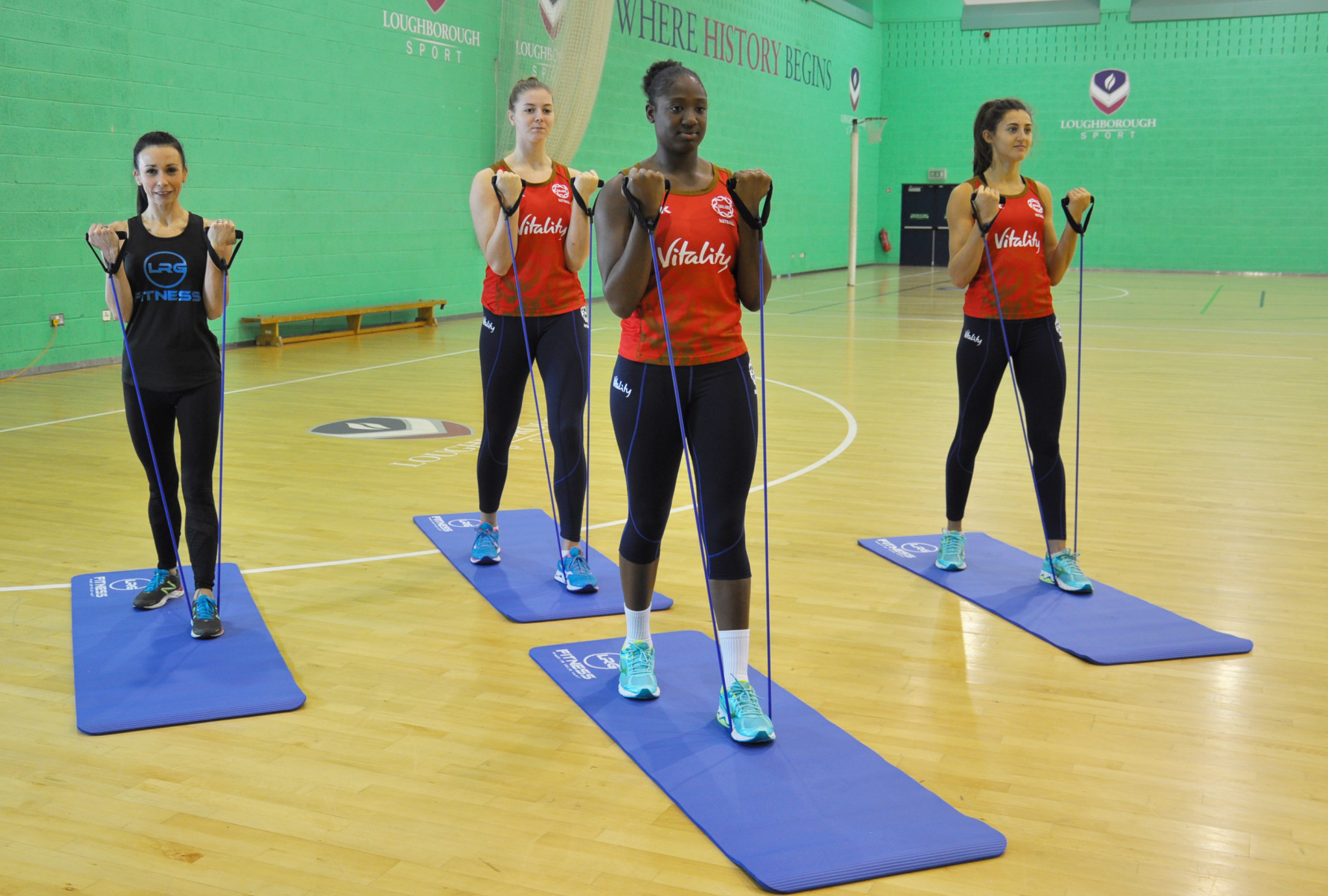 England Netball partners with LRG Fitness to provide training and workouts